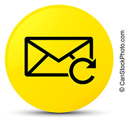 Refresh email icon yellow round button