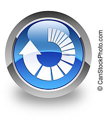 Refresh glossy icon - Refresh icon on glossy blue round...
