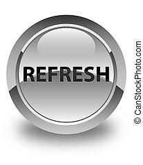 Refresh glossy white round button