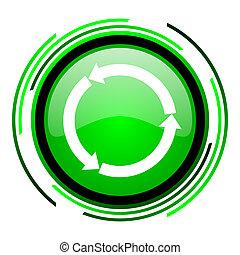 refresh green circle glossy icon