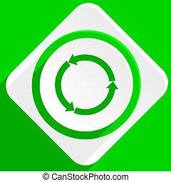 refresh green flat icon