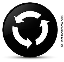 Refresh icon black round button