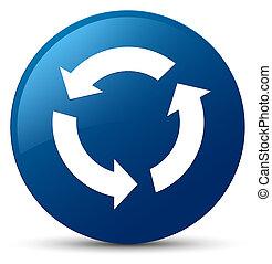 Refresh icon blue round button