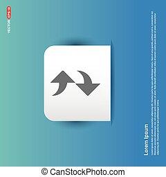 Refresh Icon - Blue Sticker button