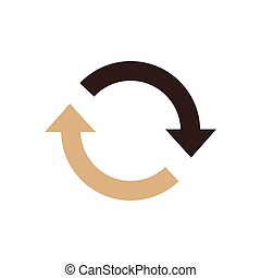 Refresh Icon brown color