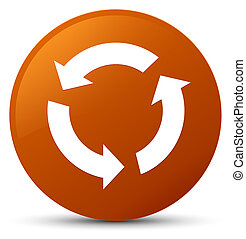 Refresh icon brown round button