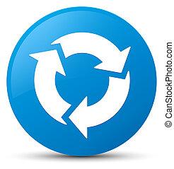 Refresh icon cyan blue round button