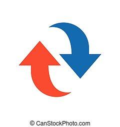 Refresh Icon design blue and orange