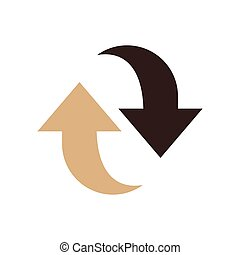 Refresh Icon design brown color