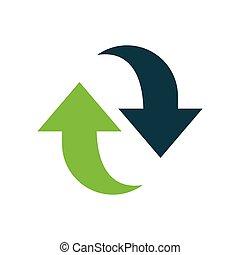 Refresh Icon design green