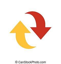 Refresh Icon design yellow and red color