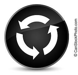 Refresh icon elegant black round button
