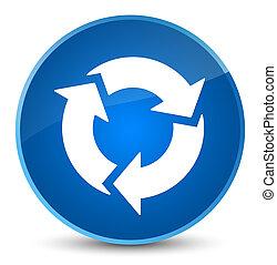 Refresh icon elegant blue round button