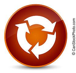 Refresh icon elegant brown round button
