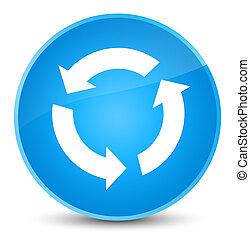 Refresh icon elegant cyan blue round button