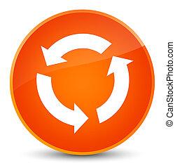 Refresh icon elegant orange round button