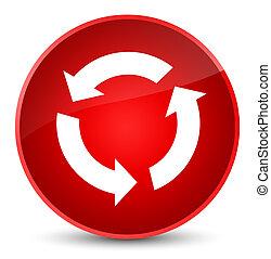 Refresh icon elegant red round button