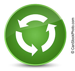 Refresh icon elegant soft green round button