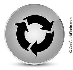 Refresh icon elegant white round button