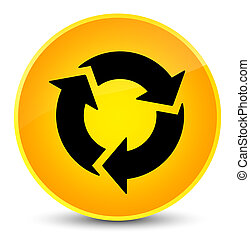 Refresh icon elegant yellow round button