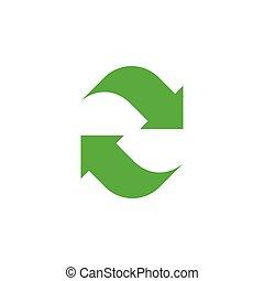 Refresh icon graphic design template vector