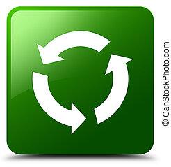 Refresh icon green square button