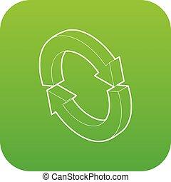 Refresh icon green vector