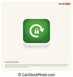Refresh icon Green Web Button