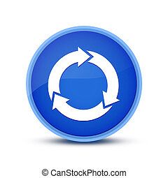 Refresh icon isolated on blue round button abstract button abstract