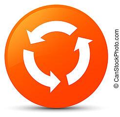 Refresh icon orange round button