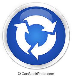 Refresh icon premium blue round button