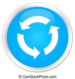 Refresh icon premium cyan blue round button