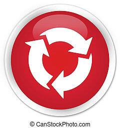 Refresh icon premium red round button