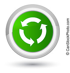 Refresh icon prime green round button