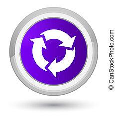 Refresh icon prime purple round button