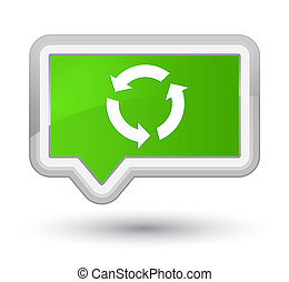 Refresh icon prime soft green banner button