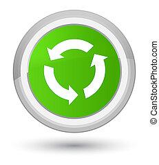 Refresh icon prime soft green round button