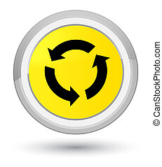 Refresh icon prime yellow round button