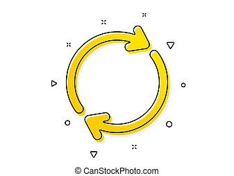 Refresh icon. Rotation arrow sign. Vector