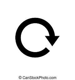 Refresh icon. Round arrow black