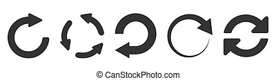 Refresh icon set isolated on white. Vector illustration EPS10