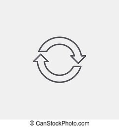 Refresh icon of grey outline for webpage
