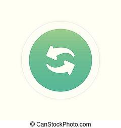 Refresh icon sign