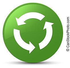 Refresh icon soft green round button