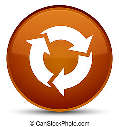 Refresh icon special brown round button