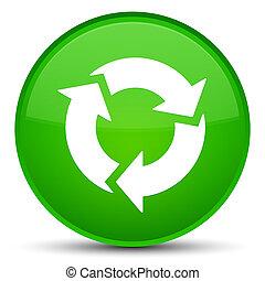 Refresh icon special green round button