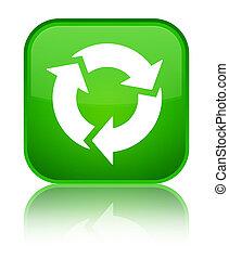 Refresh icon special green square button