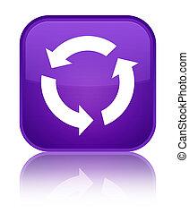 Refresh icon special purple square button