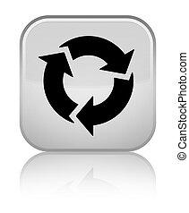 Refresh icon special white square button