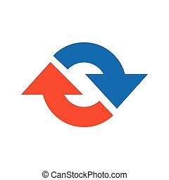 Refresh Icon vector blue and orange